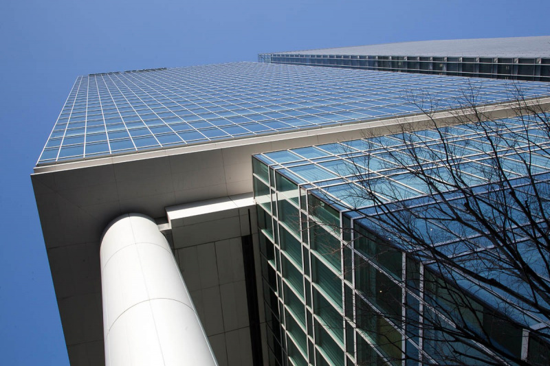 architectural photography Pacific Century PlaceTokyo