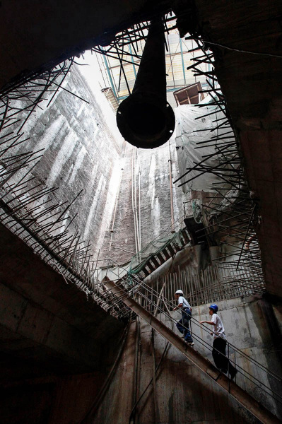 Industrial photography subway construction China