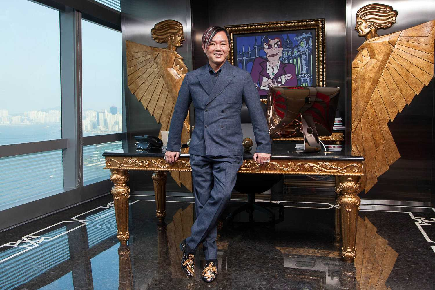 portrait of Stephen Hung in Hong Kong