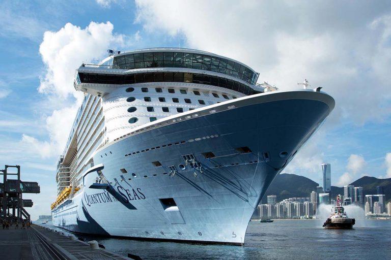 Quantum of the Seas cruise ship in Hong Kong